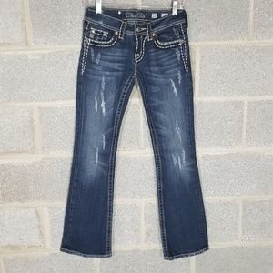 Miss Me Junior's Distressed Jeans Pant Size 26
